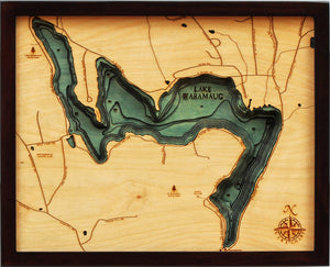 Wood Map | Lake Waramaug | Connecticut