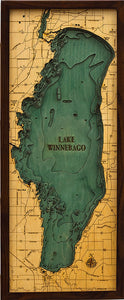 Wood Map | Lake Winnebago | Wisconsin