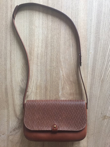 Rathbone Satchel - Embossed brown