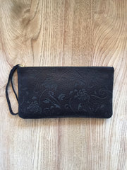 Monmouth Clutch: Black floral