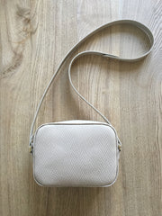 Exmouth Box Bag- Cream Embossed