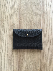 Cardholder- Black embossed