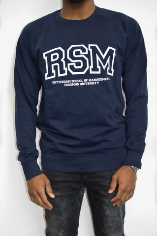 Blue Crewneck Sweater Men
