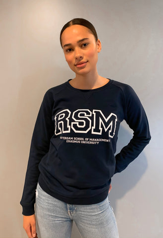 Blue Crewneck Sweater Women