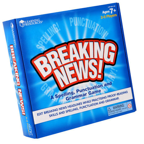 Breaking News! Spelling, Punctuation & Grammer Game - iPlayiLearn.co.za