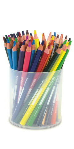 JUMBO Wooden Coloured Pencils Jar 48pcs / 12 Colours