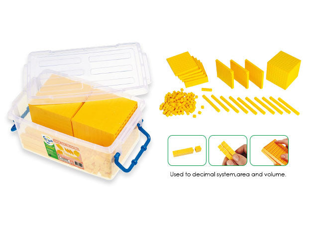 Base Ten Yellow Linking Set 161pc polybag - iPlayiLearn.co.za