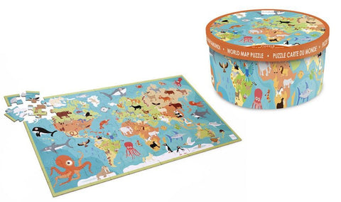 World Map Floor Puzzle 100pc