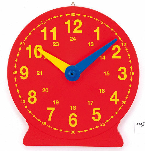 Clock Magnetic Demo Red 40cm - iPlayiLearn.co.za