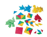 Tangram Plastic 105pc container - iPlayiLearn.co.za  - 2