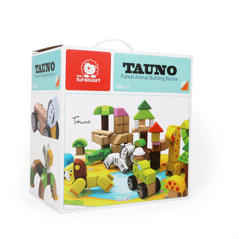 Forest Animal Building Blocks 120pc