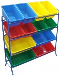 12 Bin Storage Unit Steel Rack
