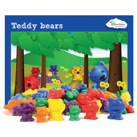 Bear Counters 96pc polybag & Activity Cards Set