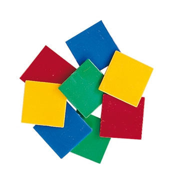 Tiles Plastic 4 Col 400pc pbag 2mm thick - iPlayiLearn.co.za
