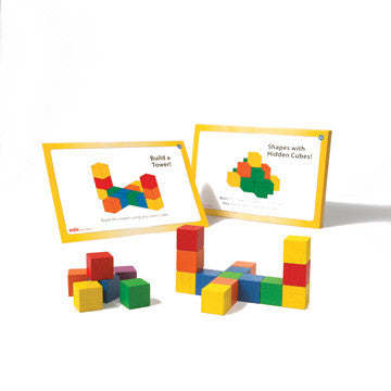 Wooden Cubes Colour 20mm + Cards - iPlayiLearn.co.za