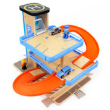 Pretend Play Wooden Parking Garage
