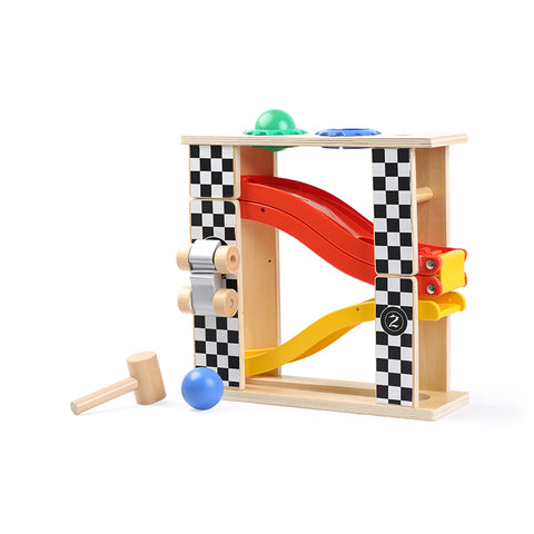 2 In 1 Racing Track & Pounding Tower