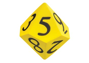 Dice 10-sided Moulded NUMBER Foam