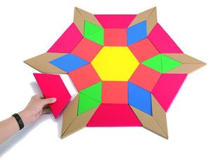 Pattern Blocks Demo Magnetic - iPlayiLearn.co.za