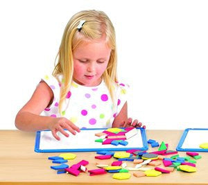 Magnetic Pattern Blocks STUDENT (200) - iPlayiLearn.co.za