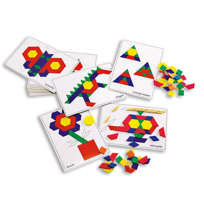 Pattern Blocks Activity Cards - iPlayiLearn.co.za