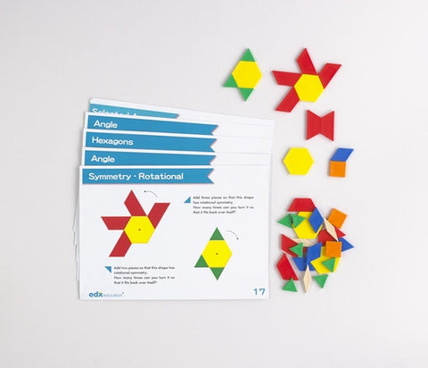 Advanced Pattern Blocks Activity Cards - iPlayiLearn.co.za