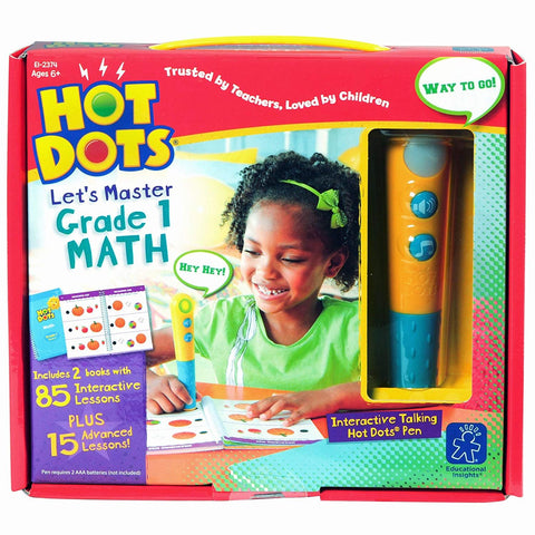 Hot Dots® Jr. Let's Master Grade 1 Math Set with Hot Dots® Pen