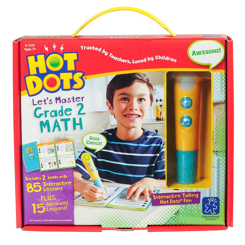 Hot Dots® Jr. Let's Master Grade 2 Math Set with Hot Dots® Pen