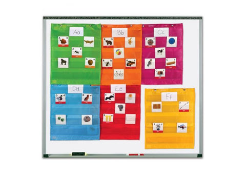 Magnetic Pocket Chart Squares (Set of 6)