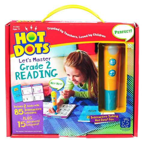 Hot Dots® Jr. Let's Master Grade 2 Reading Set with Hot Dots® Pen