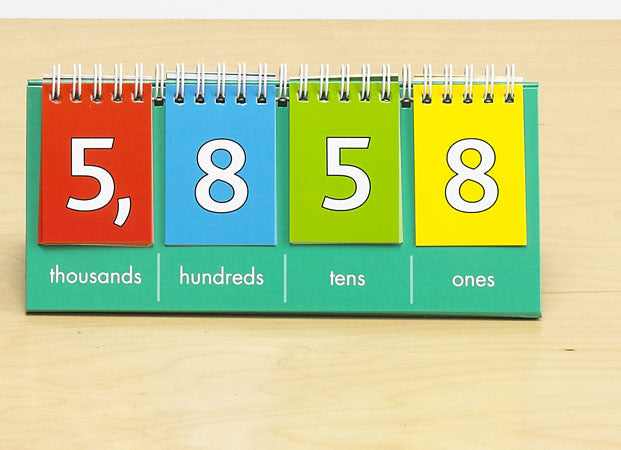 Place Value Flip Chart Thousands - Demo  1pc - iPlayiLearn.co.za