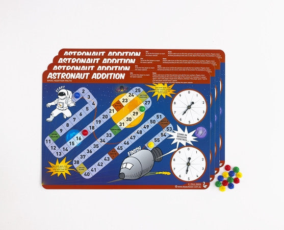 Astronaut Addition - Addition Game - iPlayiLearn.co.za