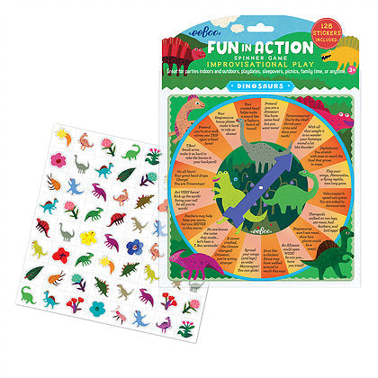 Dinosaur Fun in Action Spinner Game