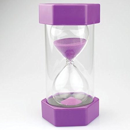 Large Sand Timer - 15 Minute (Purple)