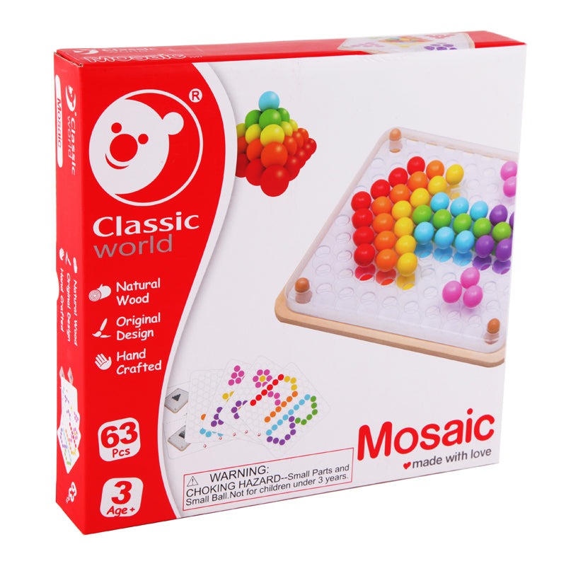 Mosaic Peg Board 63pc