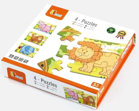 4-Puzzle Box Jungle 48pc