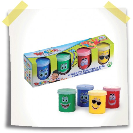 Superwashable Finger Paint 80 ml / 4 Colours