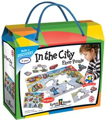 In The City Floor Puzzle 24pc