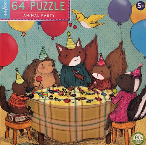Animal Party 64 Piece Puzzles