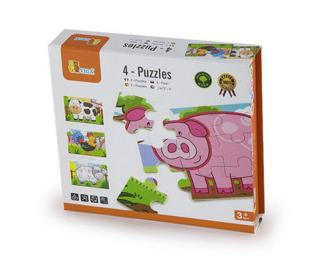 4-Puzzle box - Farm 48pc