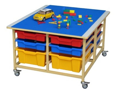 Activity & Building Block Table with 12-Bin Storage