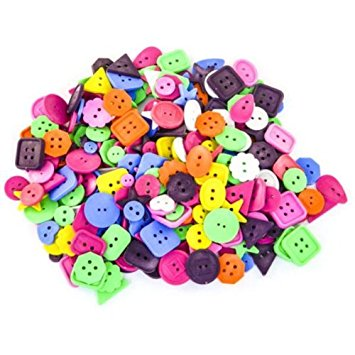 Bright Craft Buttons 450g in polybag