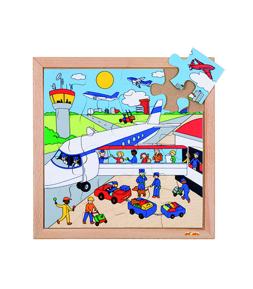 PUZZLE Airport 16pc (34cm x 34cm) - iPlayiLearn.co.za