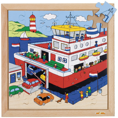 Ferry Puzzle 36pc (34cm x 34cm) Wood Framed