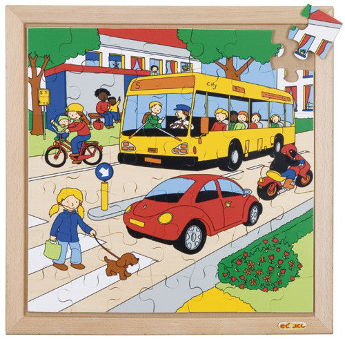 Traffic Puzzle 49pc (34cm x 34cm) Wood Framed