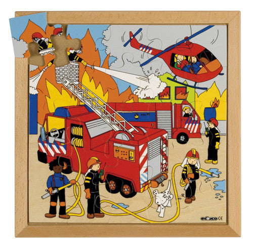 Fire Puzzle 25pc (34cm x 34cm) Wood Framed