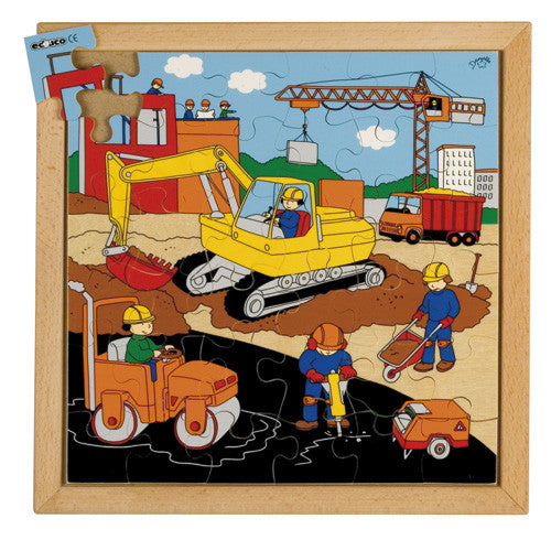 Construction Puzzle 36pc (34cm x 34cm) Wood Framed