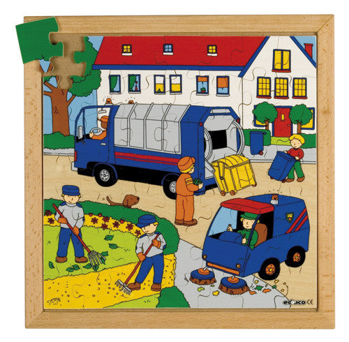 Trash Collection Puzzle 49pc (34cm x 34cm) Wood Framed