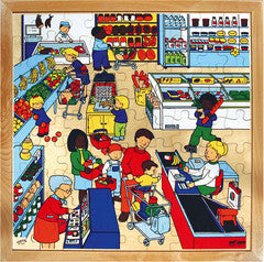PUZZLE Supermarket 81pc (40cm x 40cm) - iPlayiLearn.co.za