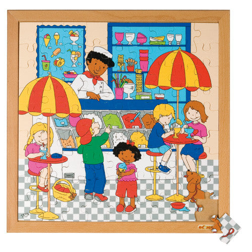 Ice Cream Parlour Puzzle 81pc (40cm x 40cm) Wood Framed